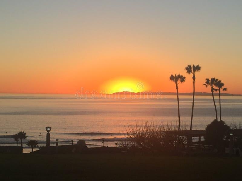 Catalina Island solnedgång arkivbild