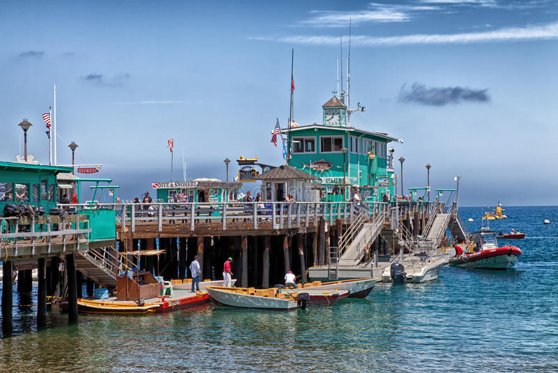 Catalina wyspy Avalon molo fotografia stock