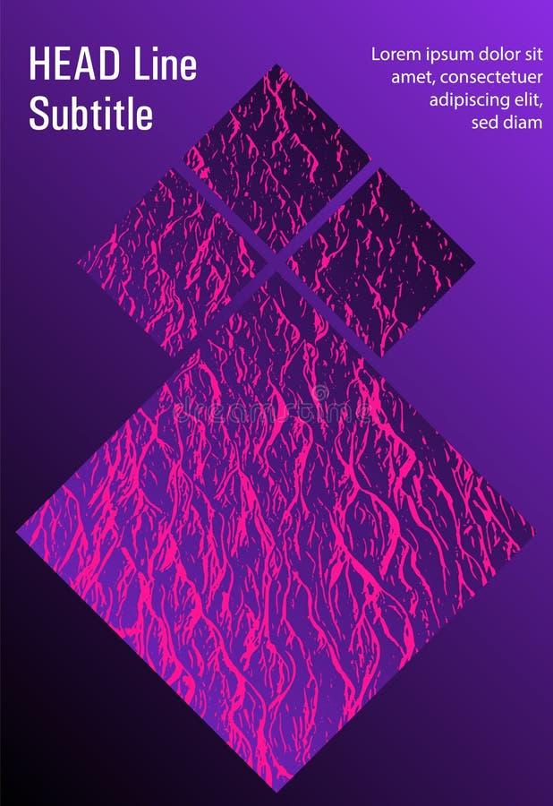 Catalog cover vector template. Plastic pink, proton purple esports texture. Presentation slides cover page. Fluid buzzing wavy noise ripple texture. Marketing vector illustration