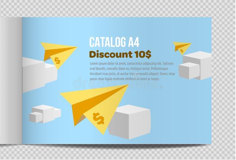 Fast vector catalog A4 sheet illustration promotion royalty free illustration
