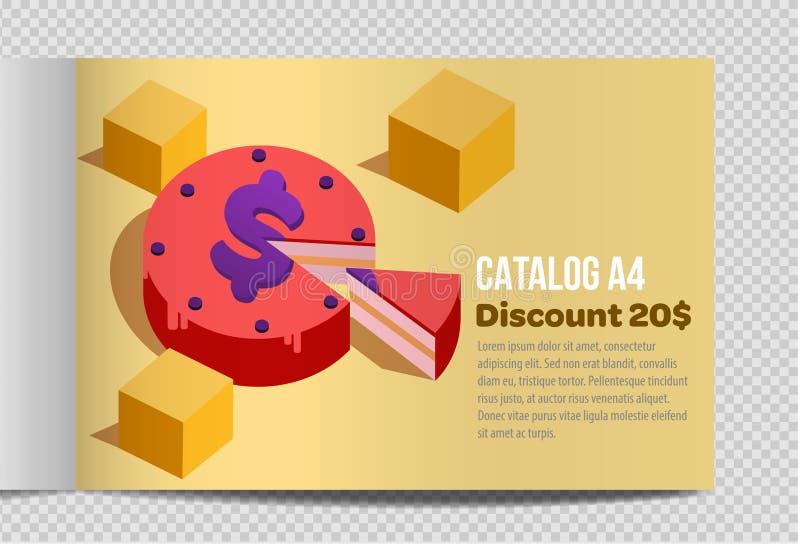 Fast vector catalog A4 sheet illustration promotion stock illustration
