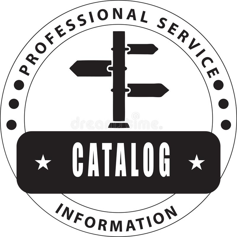 Catalog Ink Print. Professional service - quality assurance royalty free illustration
