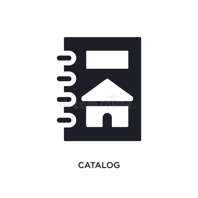 catalog isolated icon. simple element illustration from real estate concept icons. catalog editable logo sign symbol design on vector illustration