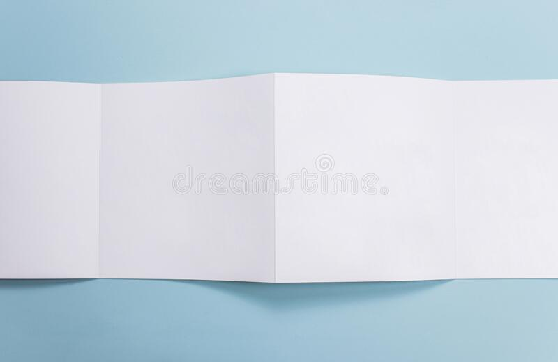 Catalog mockup, blue backdrop, isolated background, for graphic designer.  royalty free stock photo