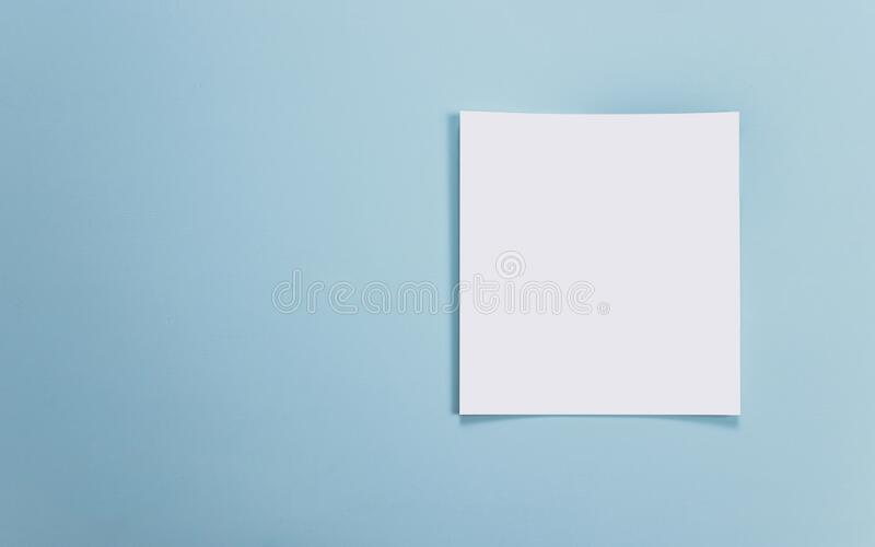 Catalog mockup, blue backdrop, isolated background, for graphic designer.  stock photography