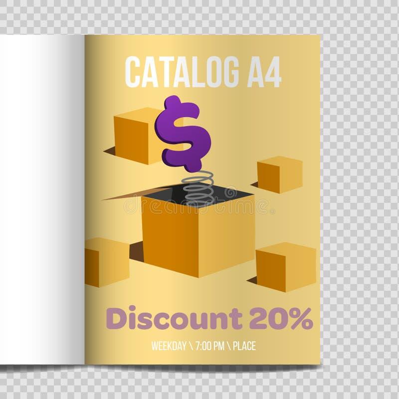 Fast vector catalog A4 sheet illustration promotion vector illustration