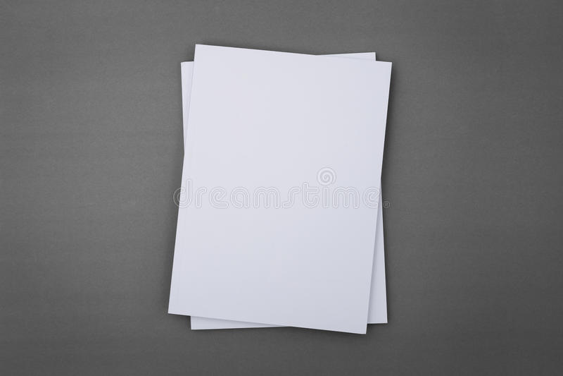 Catalogo in bianco, opuscolo, riviste, libro fotografia stock libera da diritti