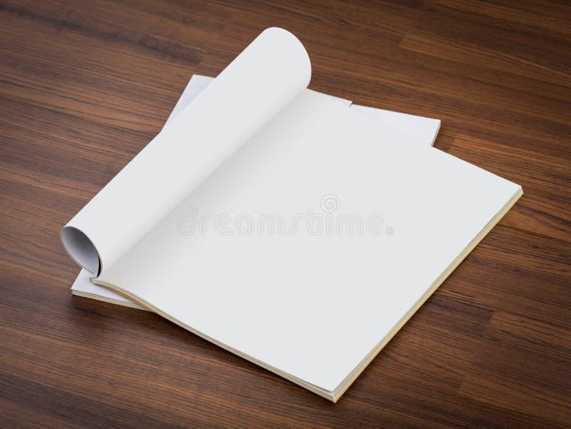 Catalogo in bianco, riviste, derisione del libro su fotografie stock