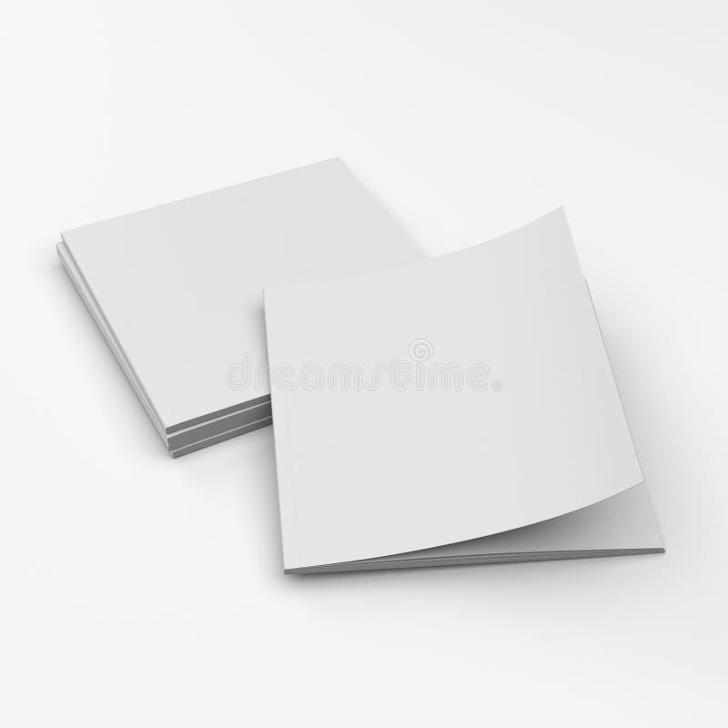 Catalogue carré de blanc de format illustration stock