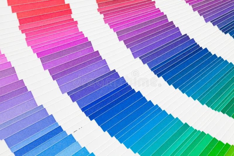 Catalogue d'échantillonneur de couleur de Pantone image stock