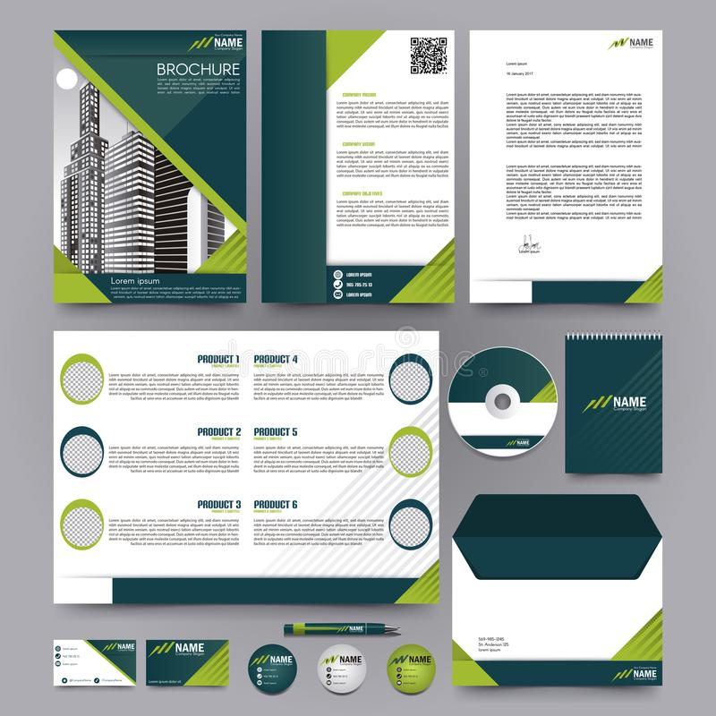 Catalogue de brochure de société de produits photos libres de droits