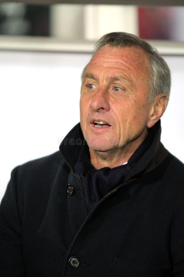 Catalonia coach Johan Cruyff royalty free stock image
