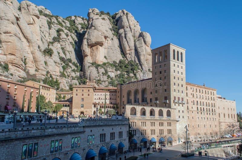 catalonia de maria kloster montserrat santa spain spain arkivfoto