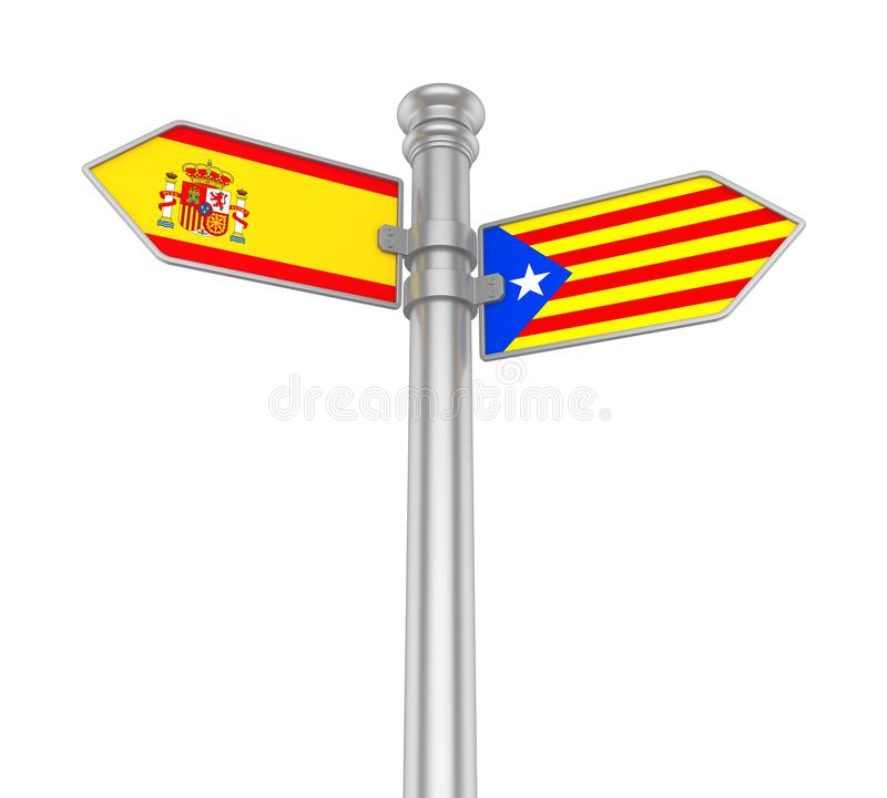 Catalonia Direction Sign Isolated vector illustration