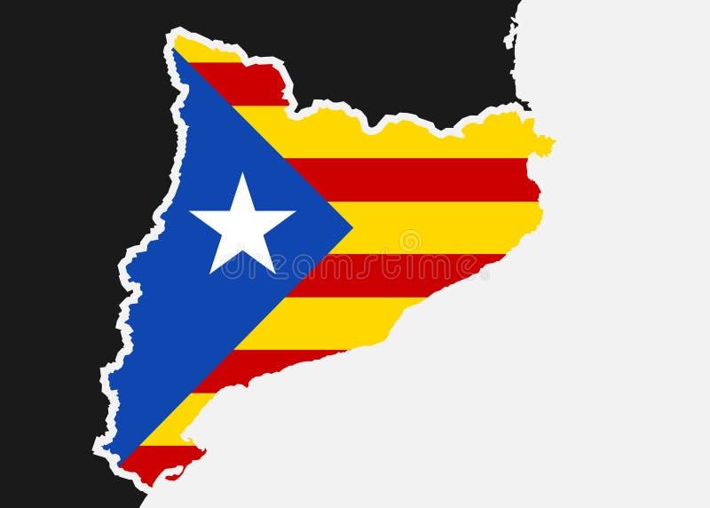 Catalonia flaga ilustracji