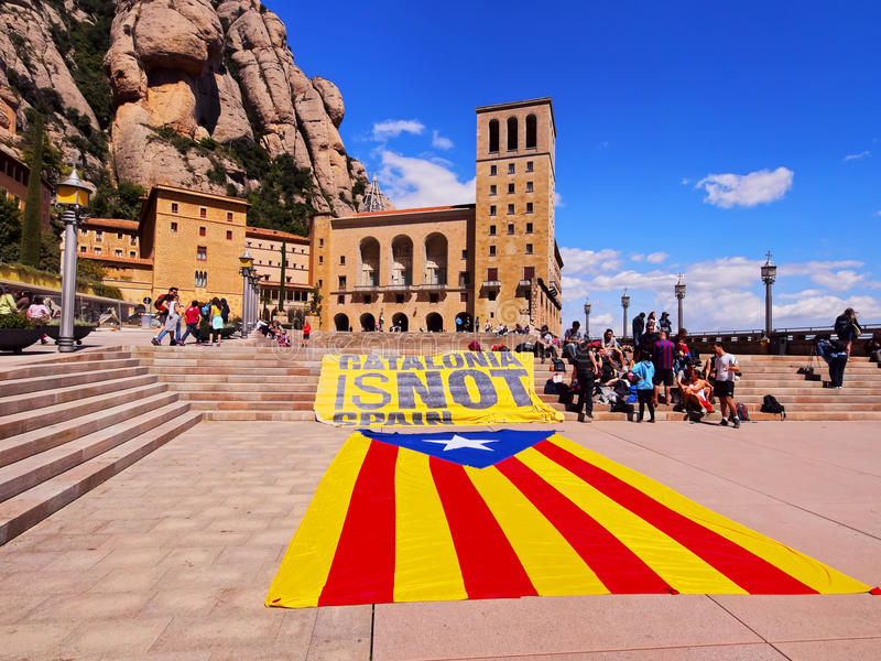 Catalonia is NOT Spain stock images