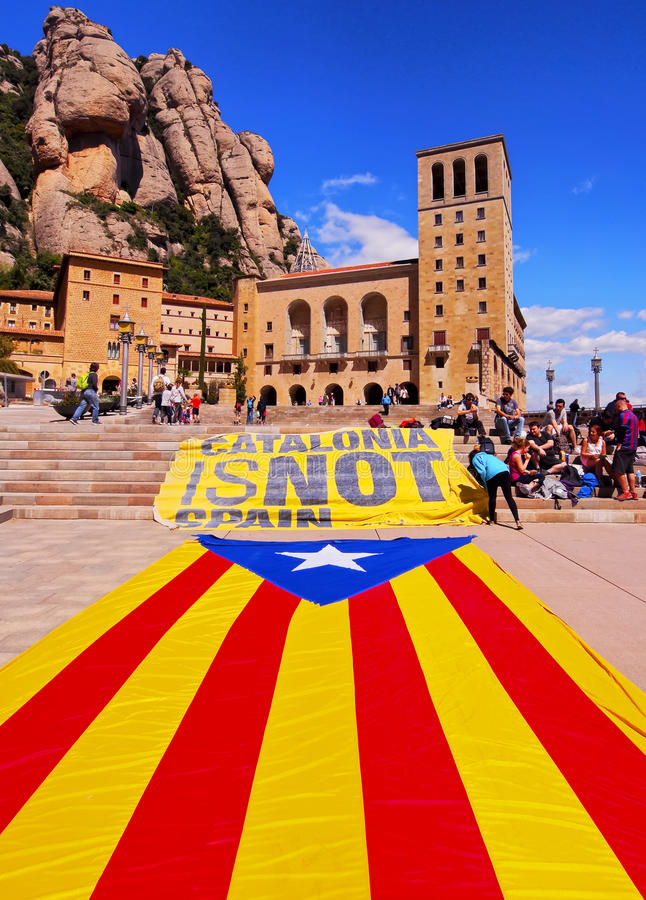 Catalonia is NOT Spain stock image