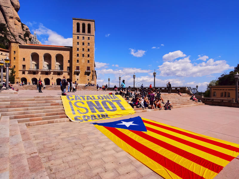 Catalonia is NOT Spain stock photography