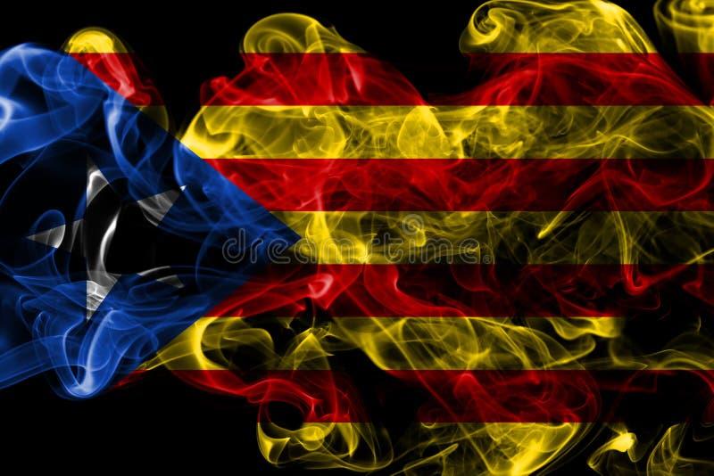 Catalonia rökflagga, beroende territoriumflagga royaltyfri bild