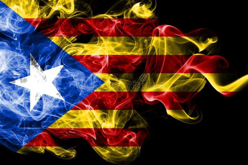 Catalonia rökflagga, beroende territoriumflagga stock illustrationer