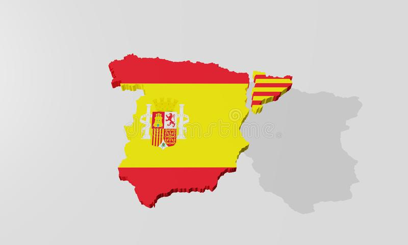 Catalonia separated fron Spain vector illustration