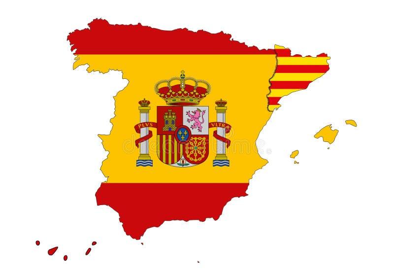 Catalonian självständighet royaltyfri illustrationer