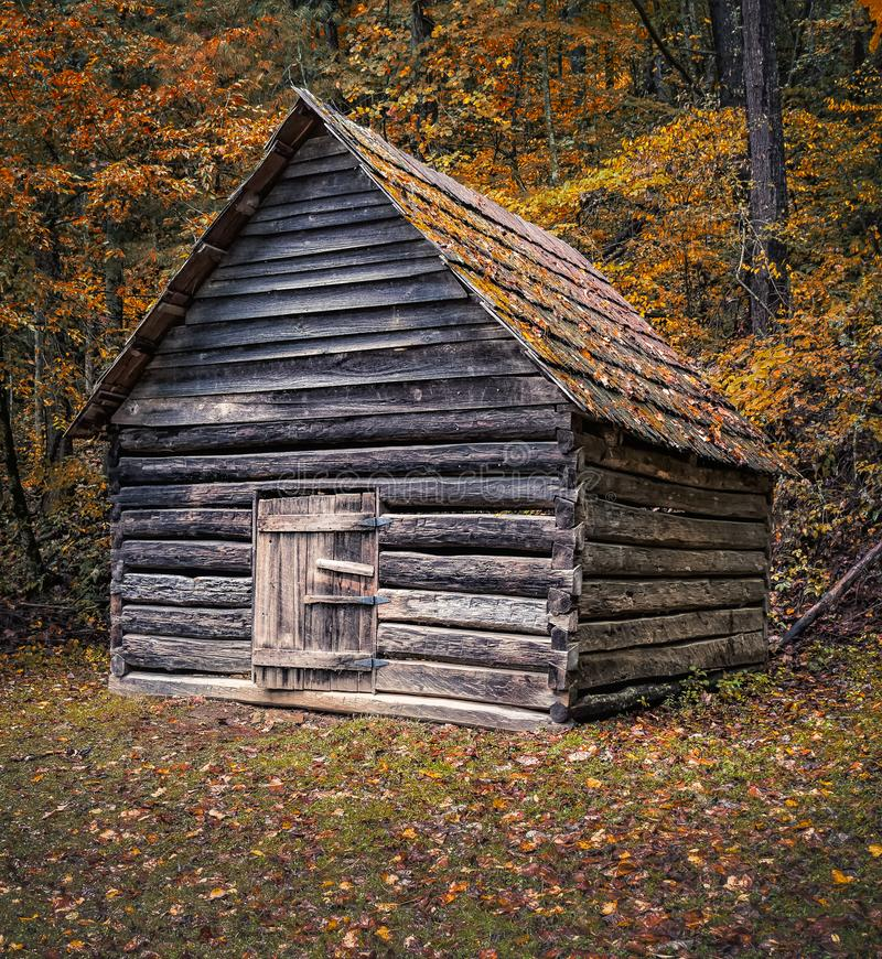 Cataloochee Rustic Building stock image