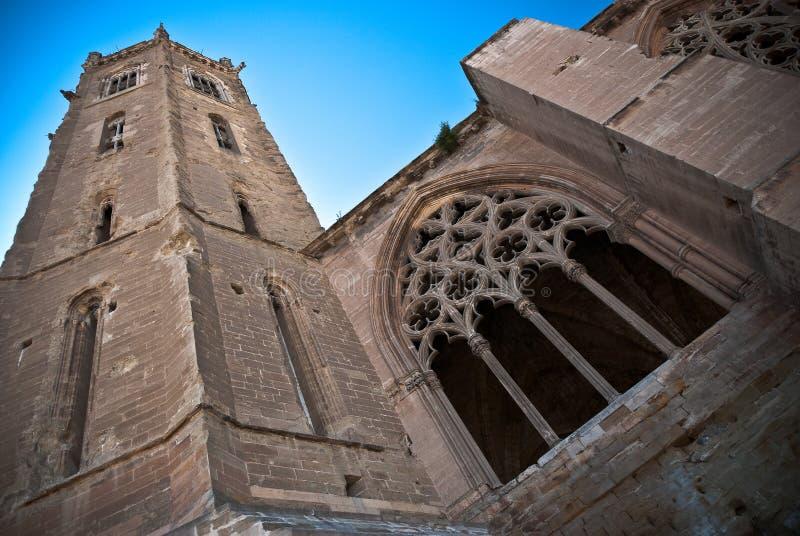 catalunya大教堂lleida西班牙起诉vella 库存照片