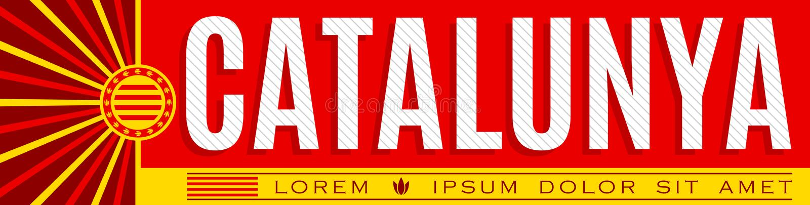 Catalunya, Catalonia Catalan text Banner design, typographic vector illustration. Eps available royalty free illustration