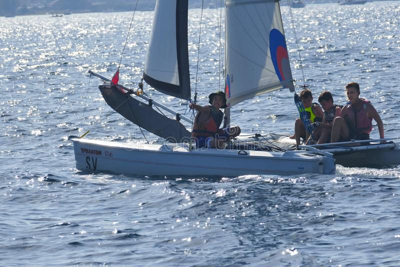 catamaran fotografie stock