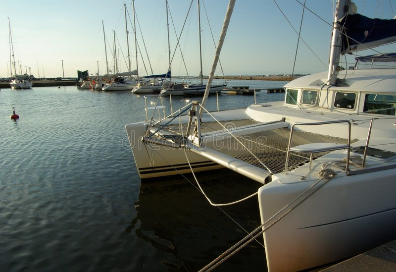 The catamaran royalty free stock image