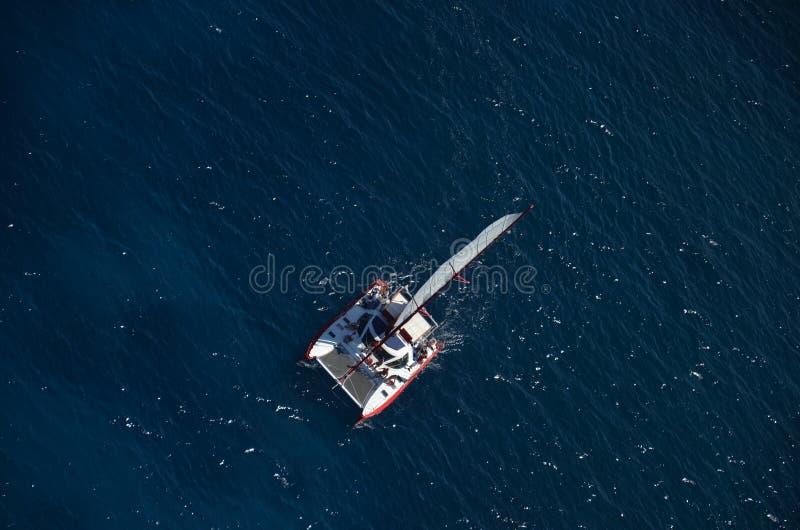 Catamaran aérien image stock