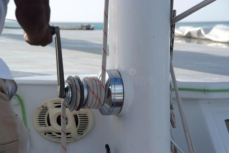 Download Catamaran close up stock photo. Image of sailing, sail - 25768258