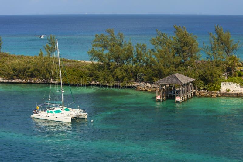 Catamaran in de Bahamas royalty-vrije stock fotografie