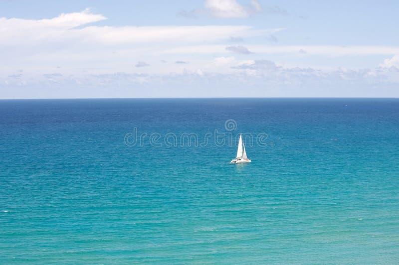 Catamaran in de oceaan royalty-vrije stock foto