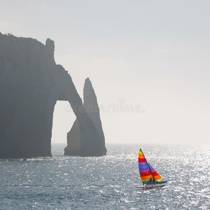 Catamaran en klip royalty-vrije stock afbeeldingen