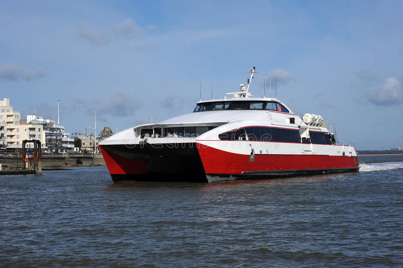 Catamaran Fast Ferry Stock Photo