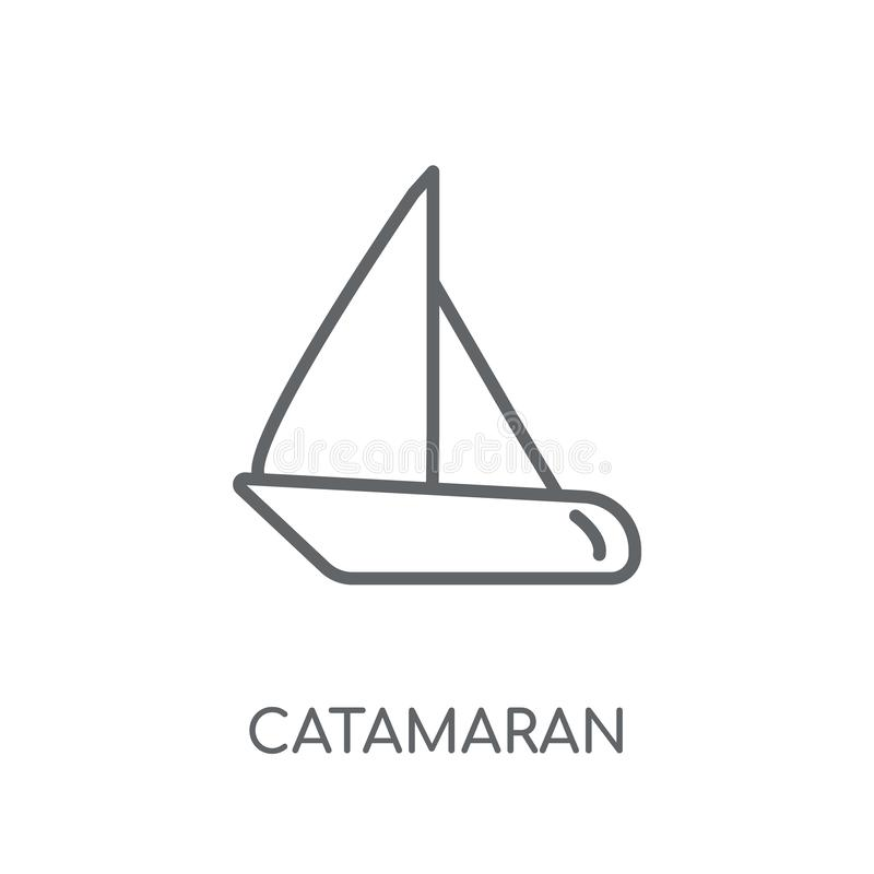 catamaran linear icon. Modern outline catamaran logo concept on royalty free illustration