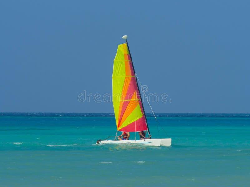 Download Catamaran sailboat stock image. Image of destinations - 29127287