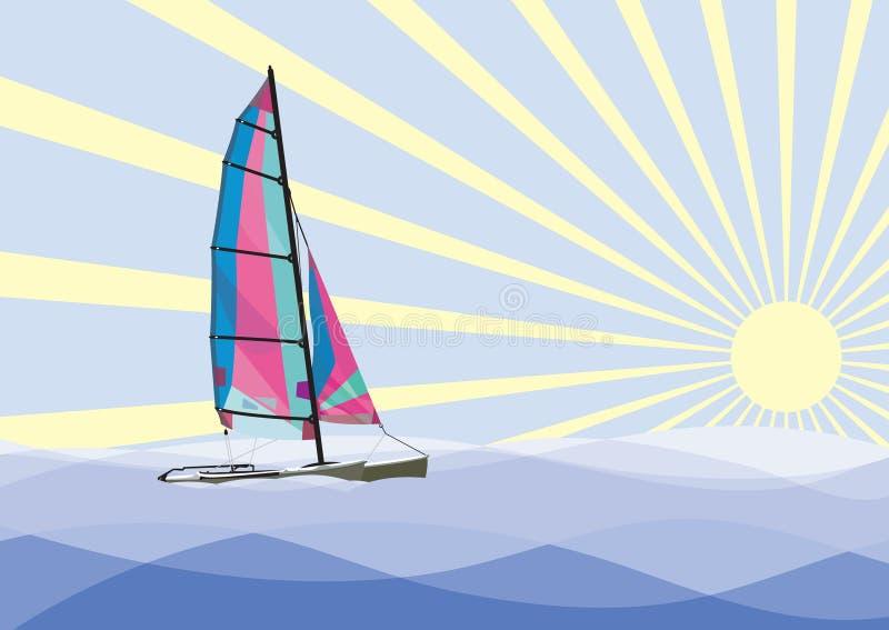 Catamarano di navigazione immagini stock