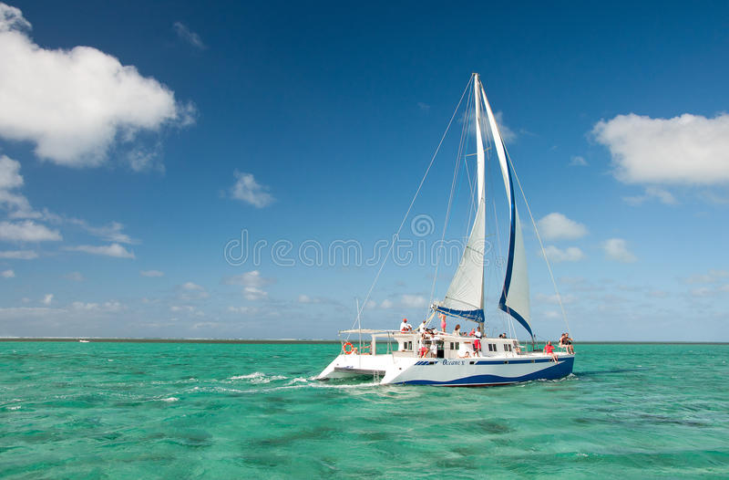 Catamarano in Mauritius immagine stock
