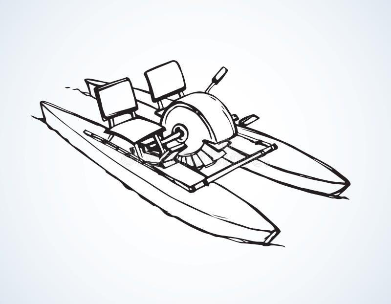 Catamaranpedaal Vector tekening royalty-vrije illustratie