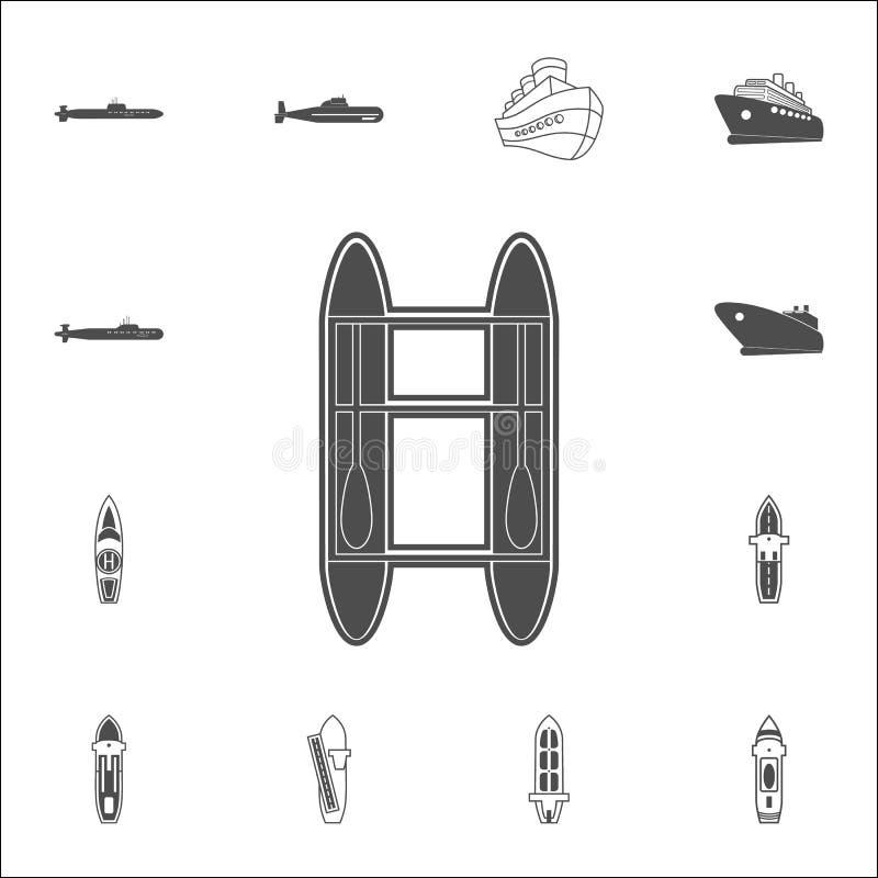 catamaranpictogram Gedetailleerde reeks Schepenpictogrammen Grafisch het ontwerpteken van de premiekwaliteit Één van de inzamelin royalty-vrije illustratie