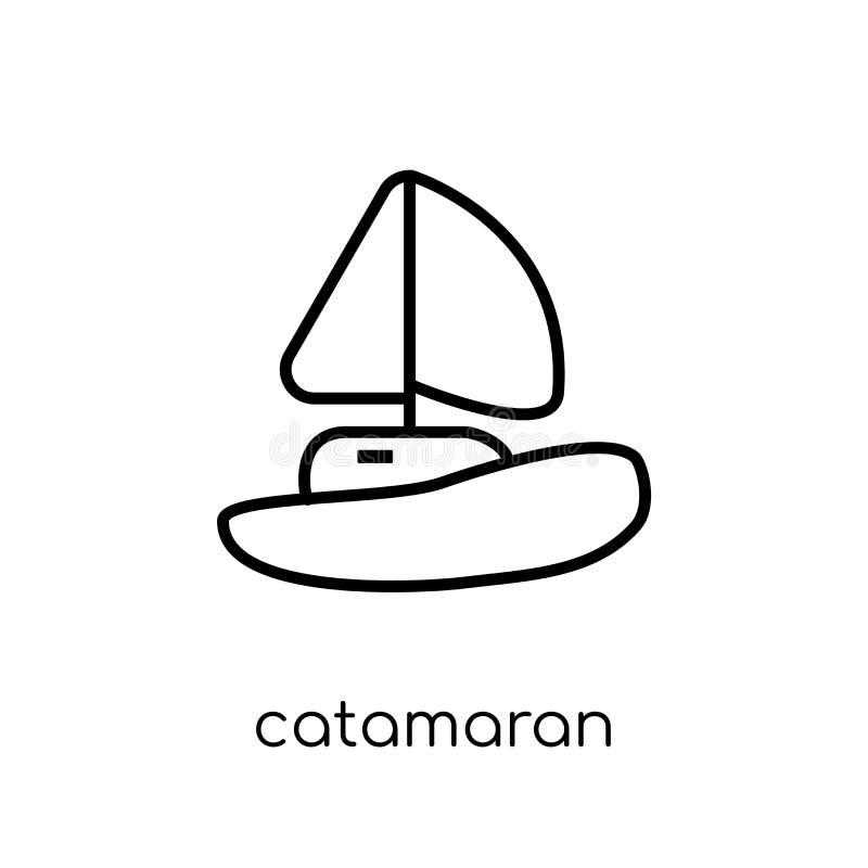 catamaranpictogram van Vervoersinzameling vector illustratie