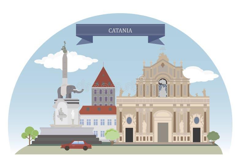 Catane, Italie illustration libre de droits