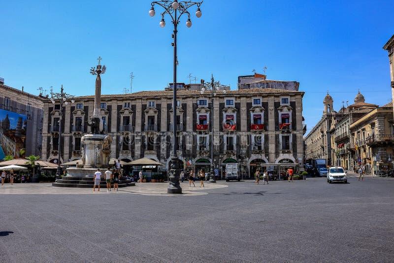 Catanië, Italië Oude havenstad van Sicilië royalty-vrije stock foto