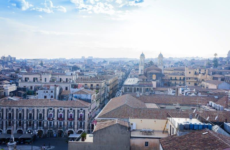 Catania aerial cityscape, travel to Sicily, Italy.  royalty free stock photo