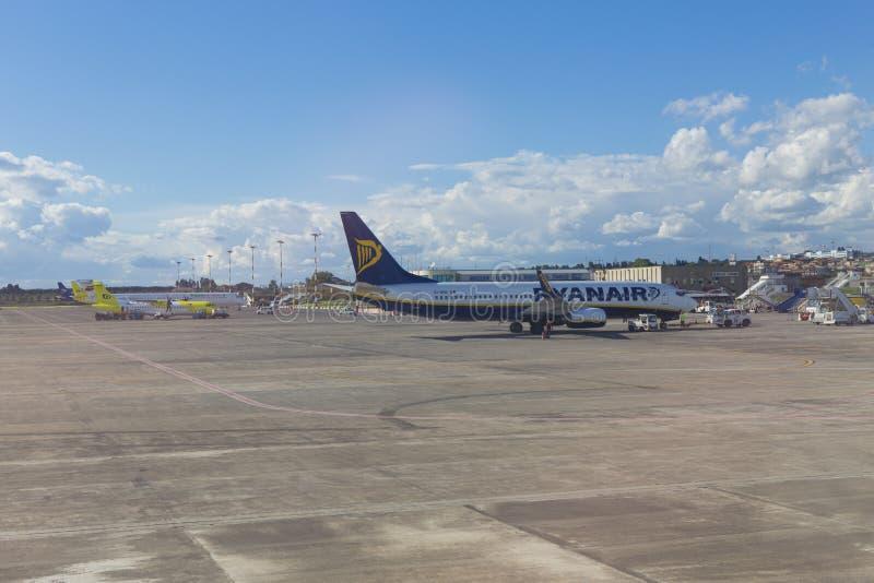 Catania Airport editorial stock image. Image of tanker ...