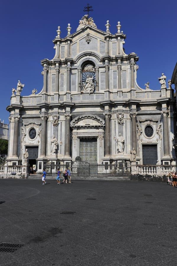 Catania, catedral fotografia de stock royalty free