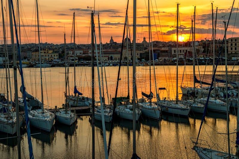 Catania hamn, 2017 fotografering för bildbyråer